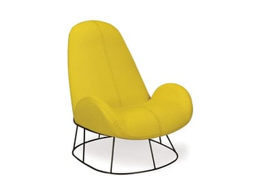 Upholstered fabric armchair LONG TIME | Armchair