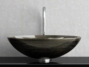 Countertop round glass washbasin FLOU