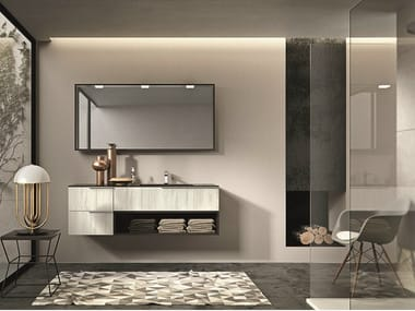 Lacquered wall-mounted vanity unit with drawers GIUNONE 352