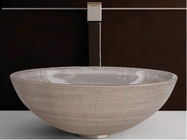 Countertop round glass washbasin VENICE Ø 44