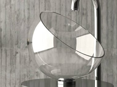 Countertop single crystal washbasin MOON