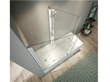 Corner bathtub with shower MIX 80