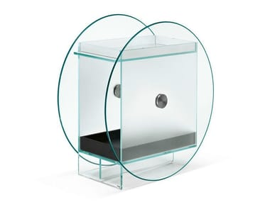 Glass bar cabinet KART