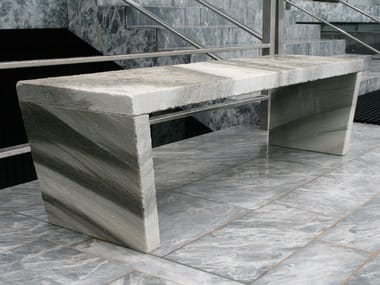 Backless marble bench seating SIMPLE BENCHES