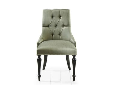 Tufted upholstered fabric chair HUEI | Tufted chair