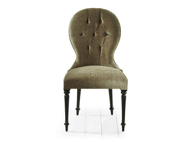 Tufted upholstered fabric chair PARK | Upholstered chair