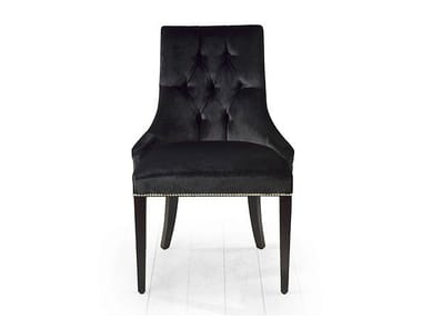 Tufted upholstered fabric chair KENT   Upholstered chair
