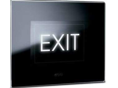Glass emergency light for signage LIFE TOUCH | Emergency light for signage