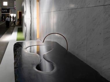 Marble washbasin GOCCIA