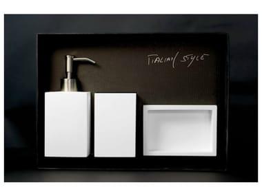 Countertop soap dish NAVY SET WHITE