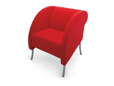 Upholstered easy chair with armrests LUTERO