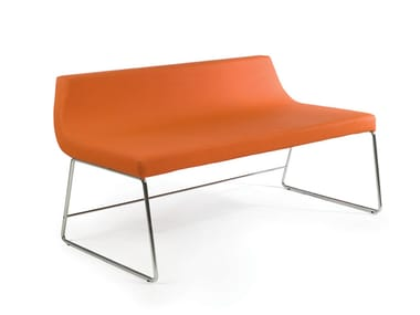Bench seating with back OKUMI