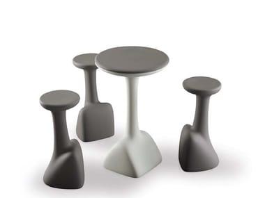Round polyethylene high table ARMILLARIA TABLE