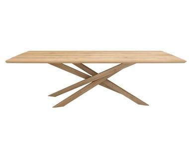 Rectangular oak dining table OAK MIKADO   Rectangular table
