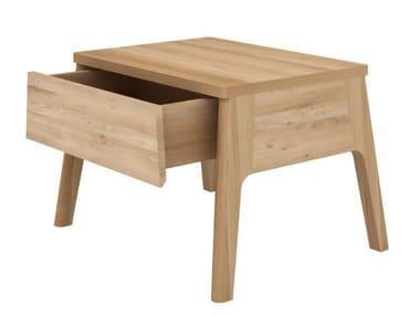 Rectangular oak bedside table with drawers OAK AIR | Bedside table