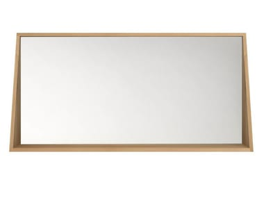 Wall-mounted framed bathroom mirror OAK QUALITIME | Mirror