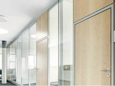 Acoustic glass office partition TWO.2.BLOCK
