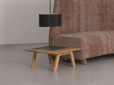 Tavolino basso di servizio in legno SIDE COMFORT TABLE