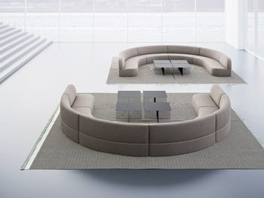 Curved fabric sofa GUEST | Curved sofa