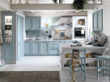 Wooden kitchen with peninsula EVERY DAY | Kitchen with peninsula
