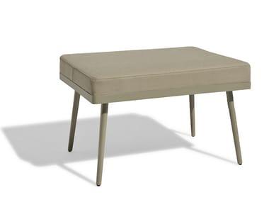 Rectangular Vinytex garden footstool VINT | Garden footstool