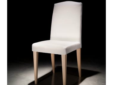 Wooden restaurant chair with removable cover SALLY