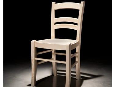 Wooden restaurant chair GIOIOSA