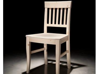 Wooden restaurant chair CLASSICA