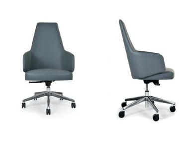 Swivel chair with 5-spoke base with armrests MIA OFFICE | Chair with armrests