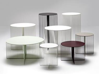 Tavolino rotondo in acciaio ACCURSIO | Tavolino