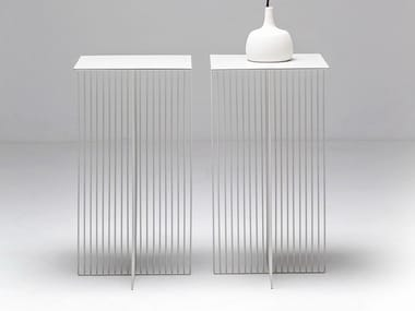 Tavolino in acciaio ACCURSIO | Tavolino