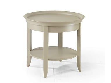 Mesa de centro de madeira com porta-revistas integrada para sala de estar ZEN | Mesa de centro redonda