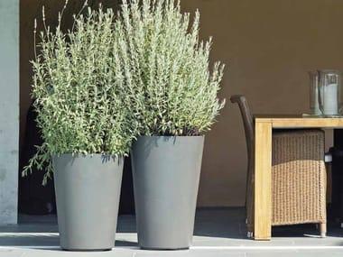 High cement garden vase ALTO