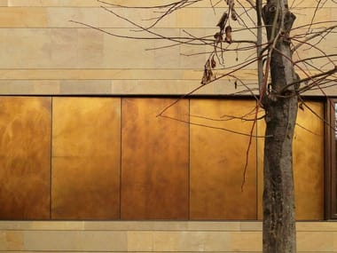 Metal sheet and panel for facade TECU® Design_brownished