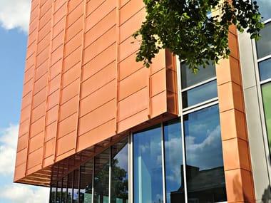 Pannello e lastra metallica per copertura / Pannello per facciata TECU® Classic_coated