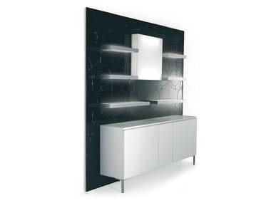 Wall Mounted One Sided Salon Display Unit 5D5B2M94M61L | Retail Display Unit