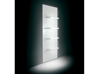 Wall-mounted one-sided salon display unit 2D4M | Retail display unit