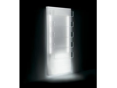 Wall-mounted salon display unit with light GLOWALL DISPLAY