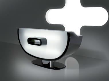 Reception desk with Built-In Lights KOMPLETE