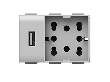 Electrical outlet SIDE UNIKA USB