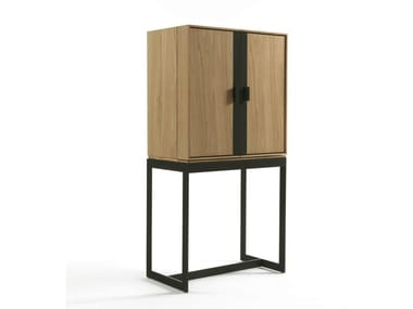 Solid wood highboard with doors FLY STORAGE