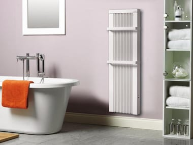 Electric vertical wall-mounted aluminium towel warmer Vertical towel warmer
