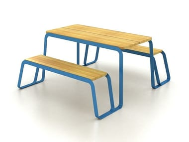 Picnic table with integrated benches TAVOLEE