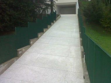 Vehicular Cement-Based materials outdoor floor tiles ACQUA DRENA®   Vehicular outdoor floor