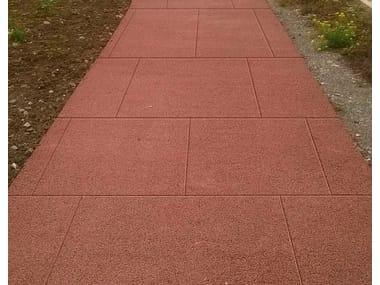 Cement-Based materials outdoor floor tiles ACQUA DRENA®   Pedestrian flooring