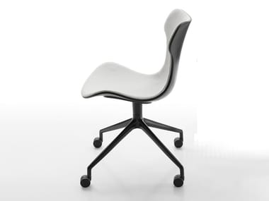 Fabric task chair with 4-Spoke base with castors PAPILIO SHELL | Task chair