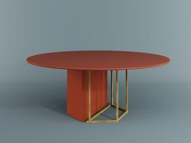 Table à manger ronde en bois PLINTO   Table ronde
