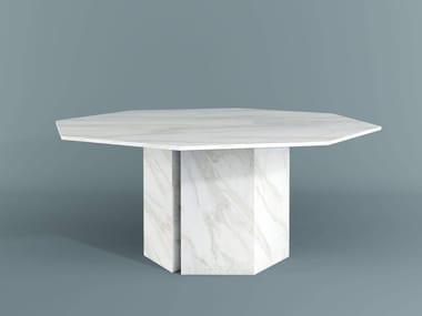 Table à manger en marbre PLINTO   Table à manger