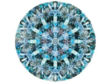 Patterned round rug CRYSTAL ICE