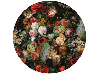Round rug with floral pattern EDEN QUEEN